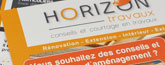 Carte commerciale et flyer - Horizon travaux